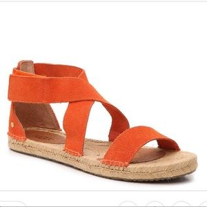 UGG Mila Suede Open Toe Casual Espadrille Sandals